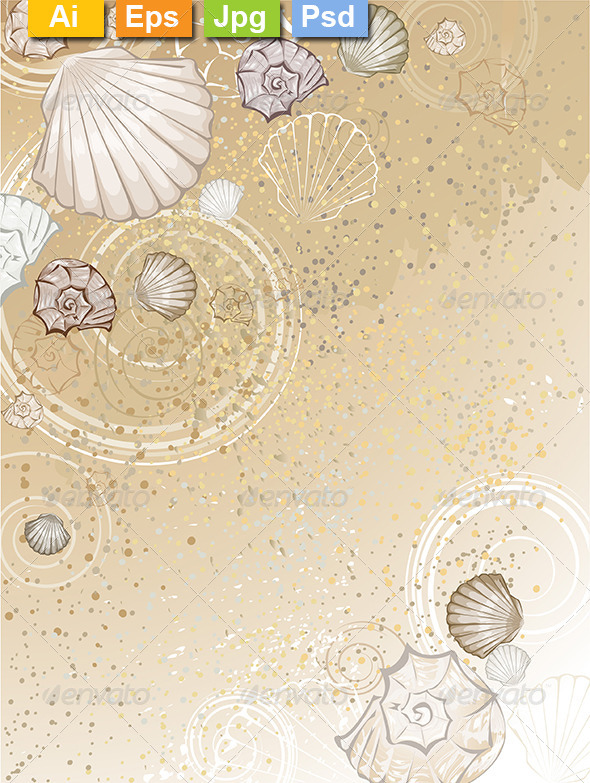 GraphicRiver Seashells on the Sand 8161805