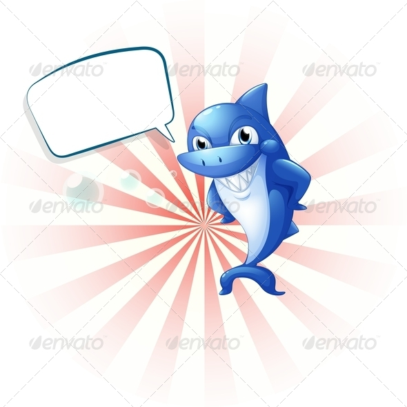 GraphicRiver A Smiling Shark with an Empty Callout 8162047