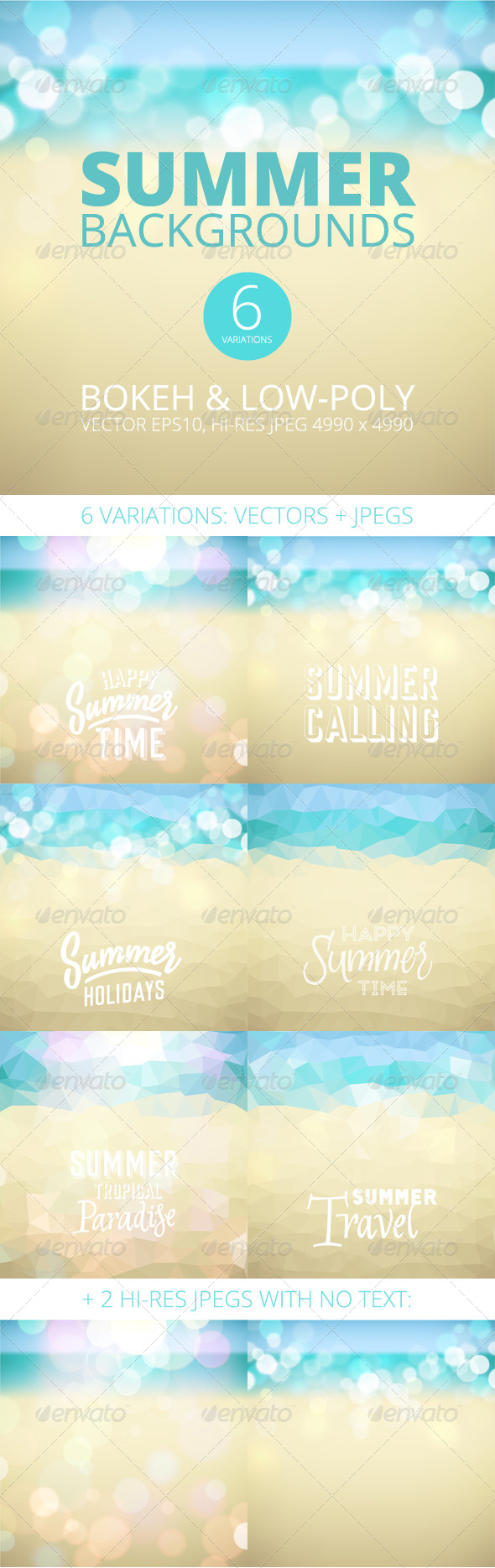 GraphicRiver Summer Holiday Tropical Beach Background 8162181