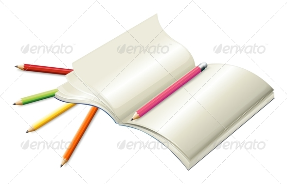 GraphicRiver Book with Pencils 8162368