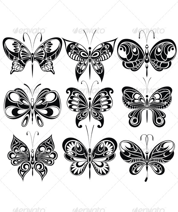 GraphicRiver Set of Butterflies 8162409