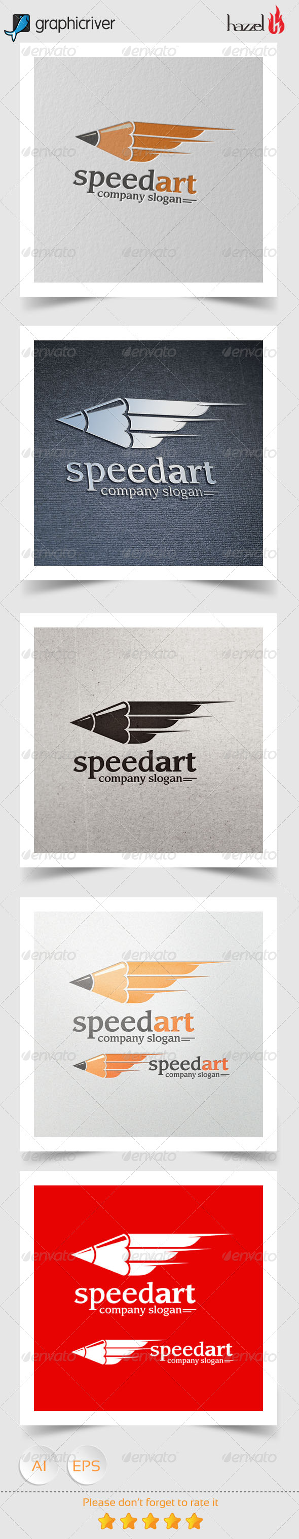 GraphicRiver Speed Art Logo 8162687