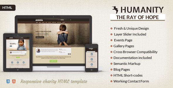 ThemeForest Humanity NGO & Charity HTML Template 8049941