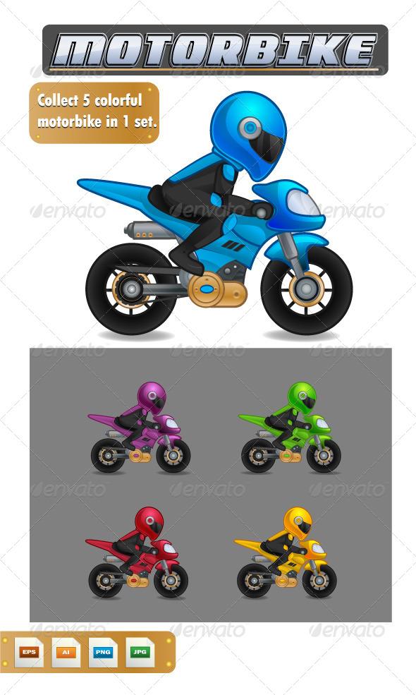 GraphicRiver Vector Motorbike 8157174