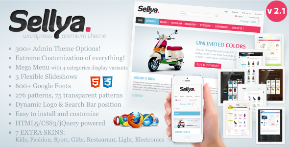 Sellya - Responsive WooCommerce Theme - WooCommerce eCommerce