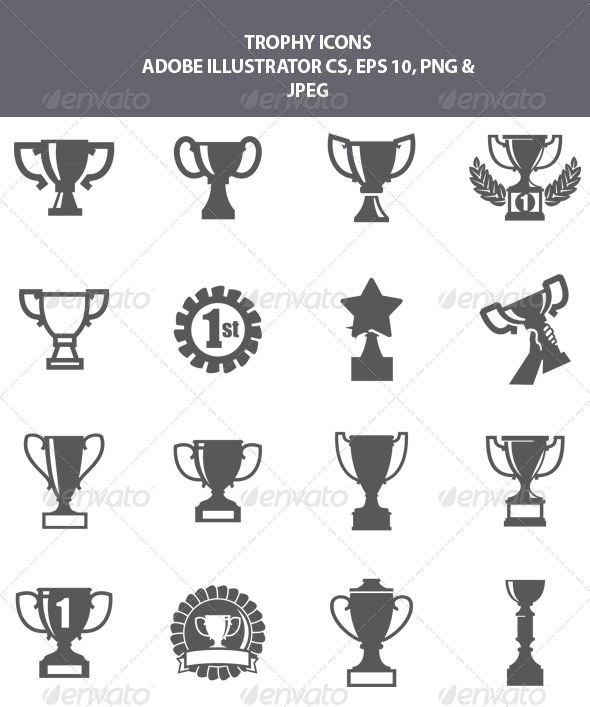 GraphicRiver Trophy Icons 8163060