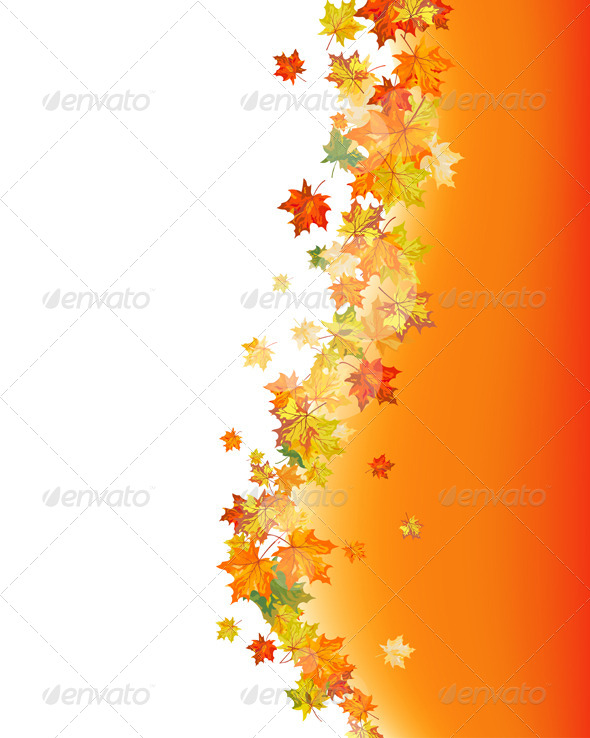 GraphicRiver Autumn Maple Leaves Background 8163125