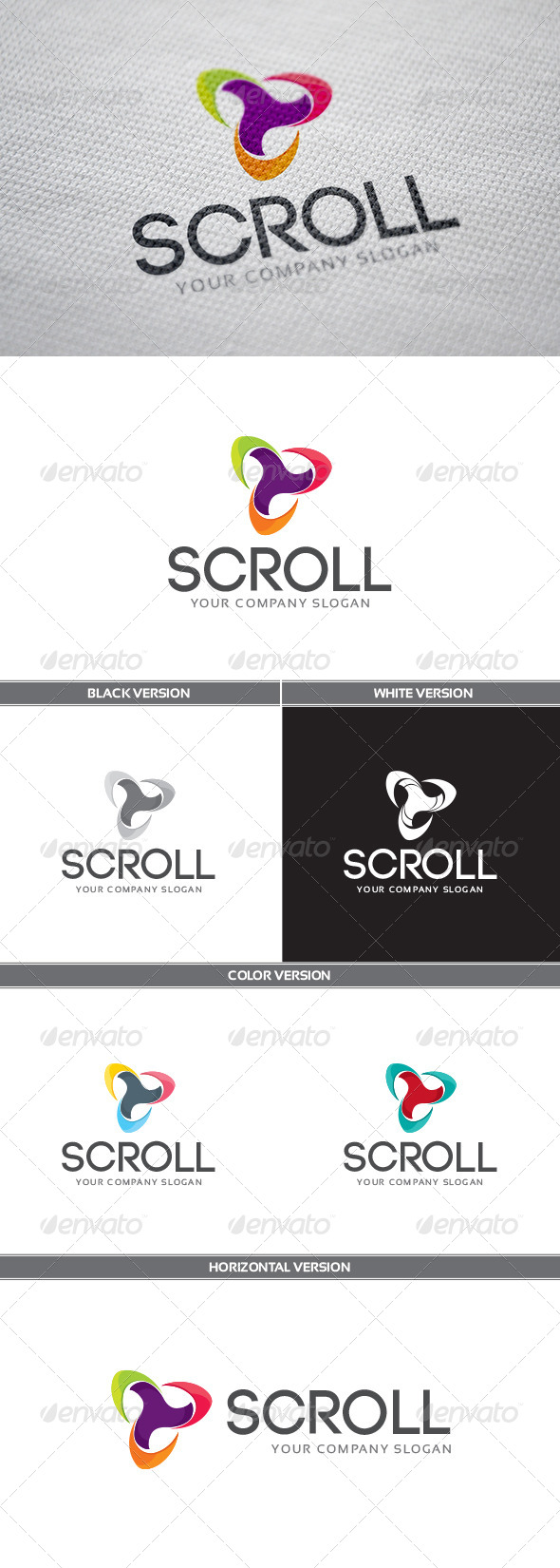 GraphicRiver Scroll Logo 8163175