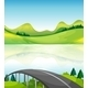 Road Bridge Near the Lake - GraphicRiver Item for Sale