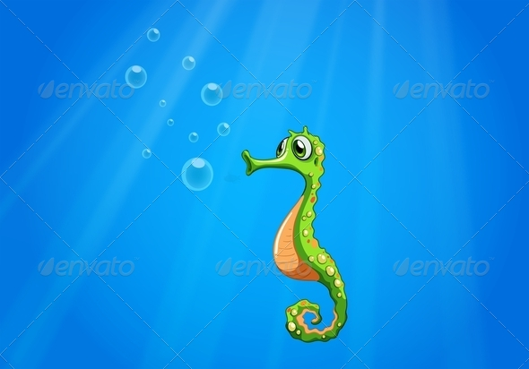 GraphicRiver A Seahorse under the Sea 8163178