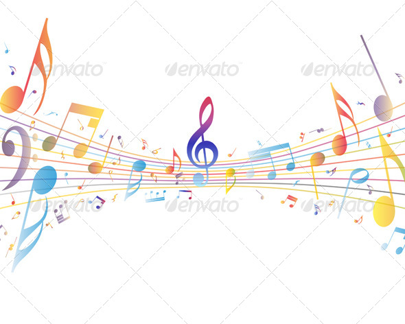 GraphicRiver Multicolor Musical 8163185