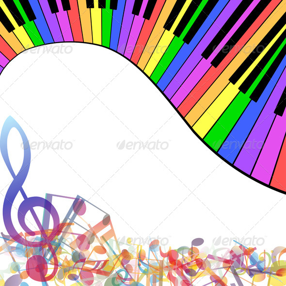 GraphicRiver Multicolor Musical 8163197