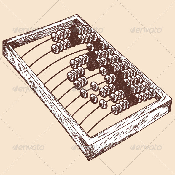 GraphicRiver Wooden Abacus Sketch 8163203
