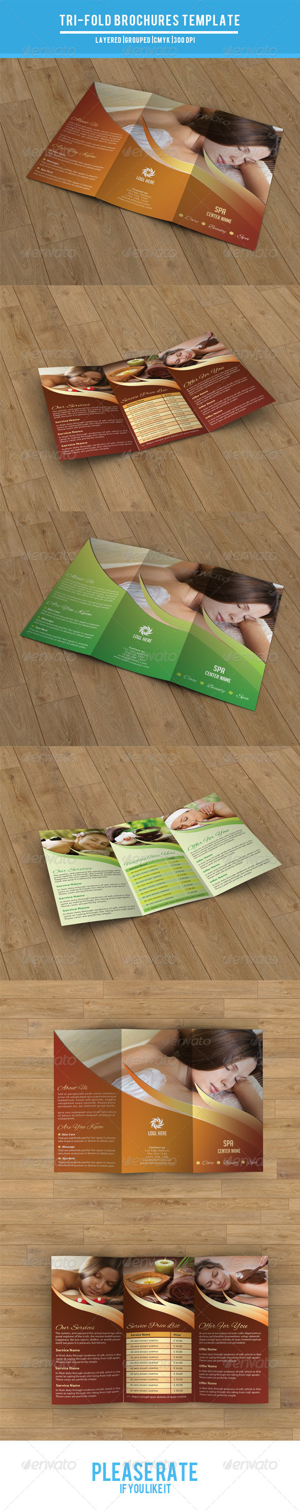 Trifold Brochure for Beauty Salon-V24