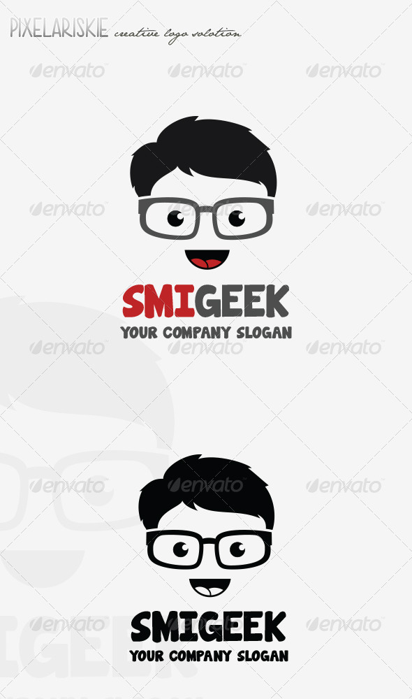 GraphicRiver Smiley Geek Logo 8163293