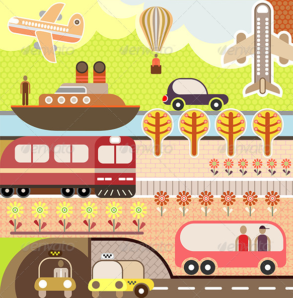 GraphicRiver Landscape Tourism and Travel Illustration 8163580