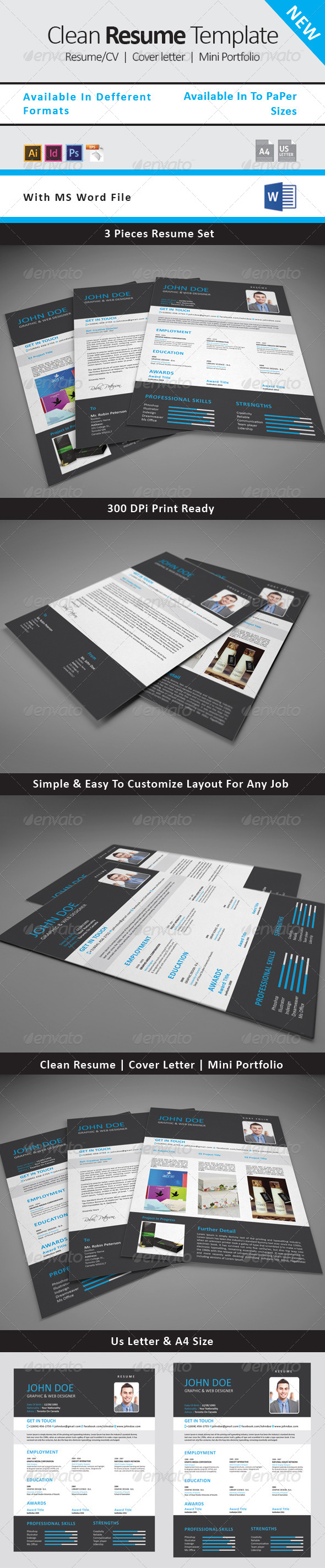GraphicRiver Resume CV Template 4 8163787