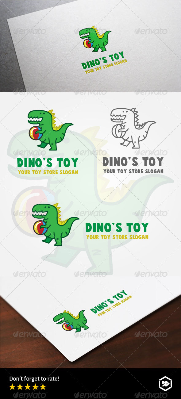GraphicRiver Dinosaurs Toys Store Logo 8163918