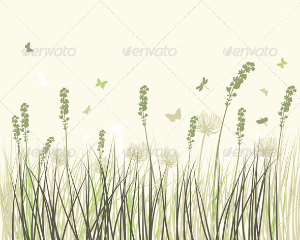 GraphicRiver Summer Meadow Background 8163924