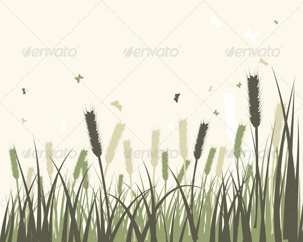 GraphicRiver Summer Meadow Background 8163928