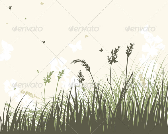 GraphicRiver Summer Meadow Background 8163989