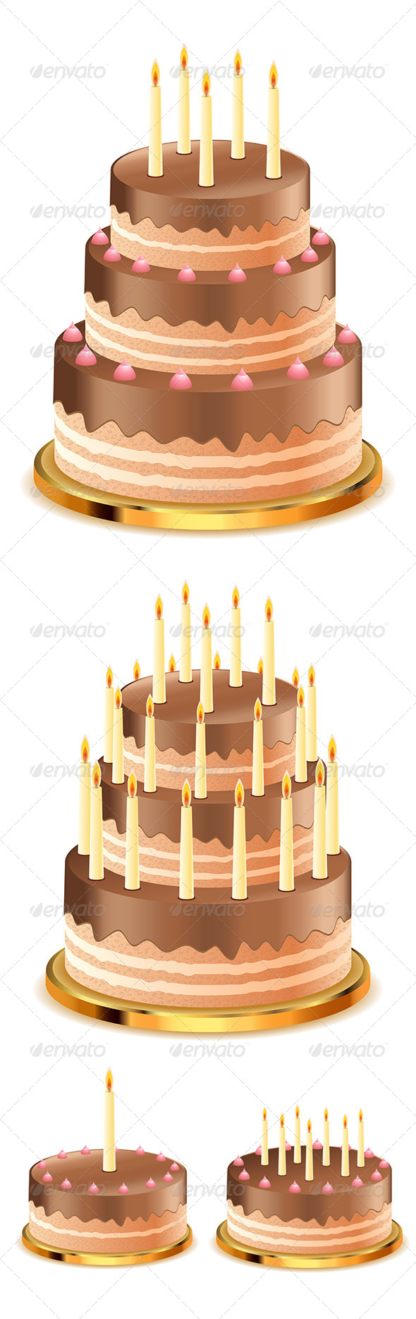GraphicRiver Chocolate Cake with Candles 8163993