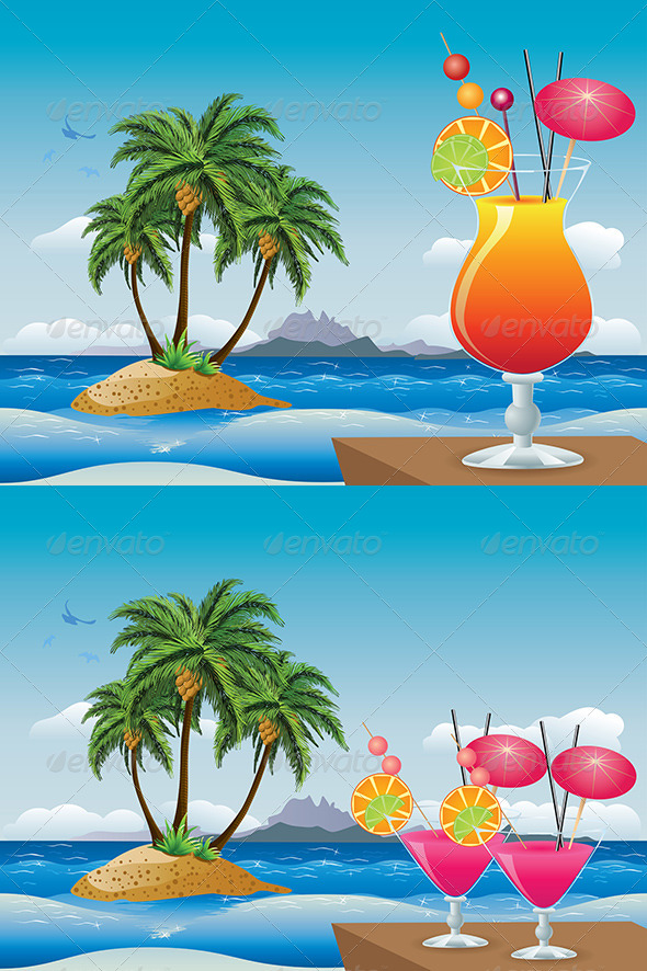 GraphicRiver Cocktail on the Beach 8164003