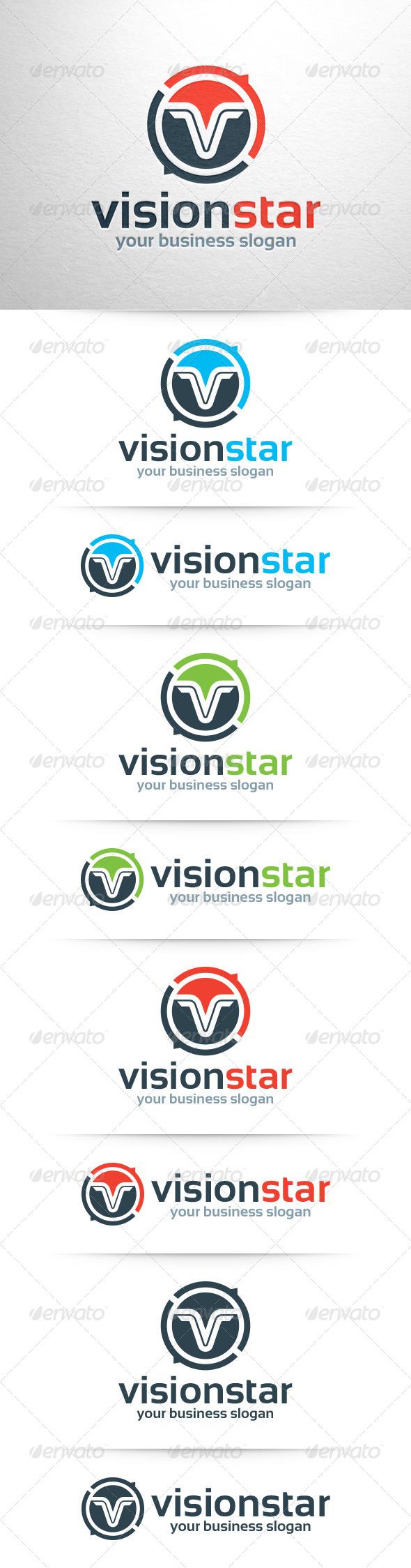 Vision Star - Letter V Logo