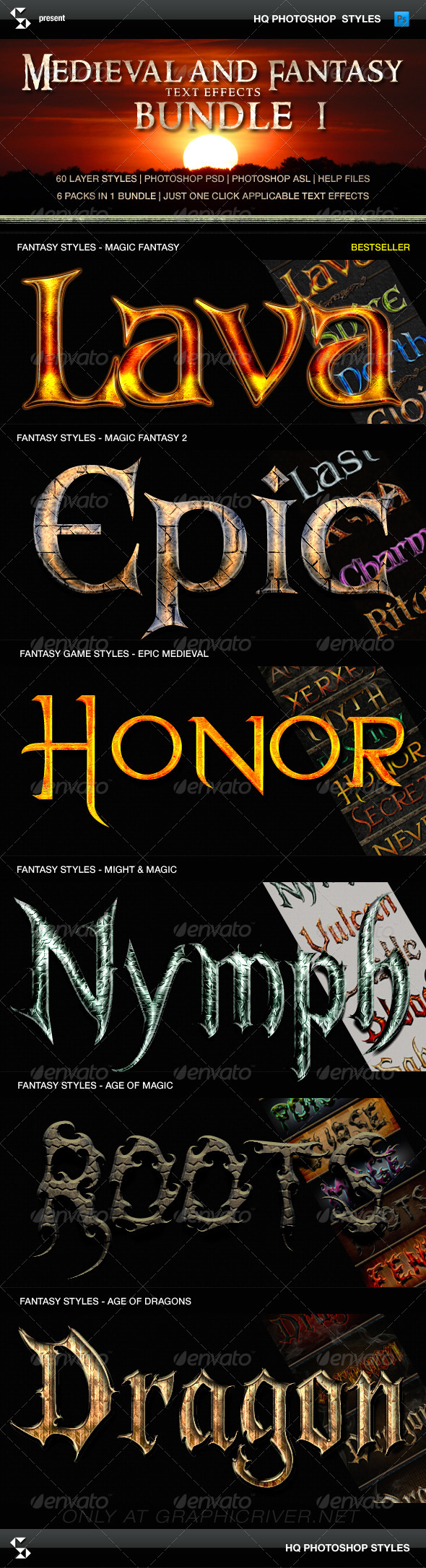 GraphicRiver Fantasy Styles Bundle Magic Fantasy Collection 8158277