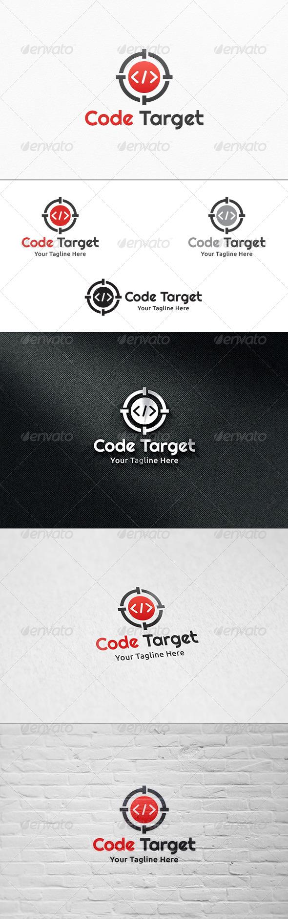 GraphicRiver Code Target V2 Logo Template 8164025