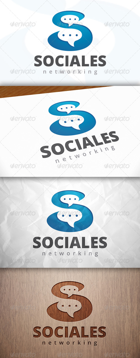 GraphicRiver Social S Letter Logo Template 8164185