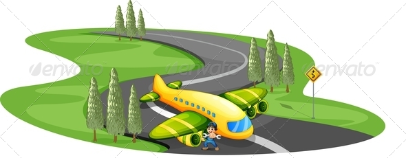 GraphicRiver Boy with a Plane 8164201