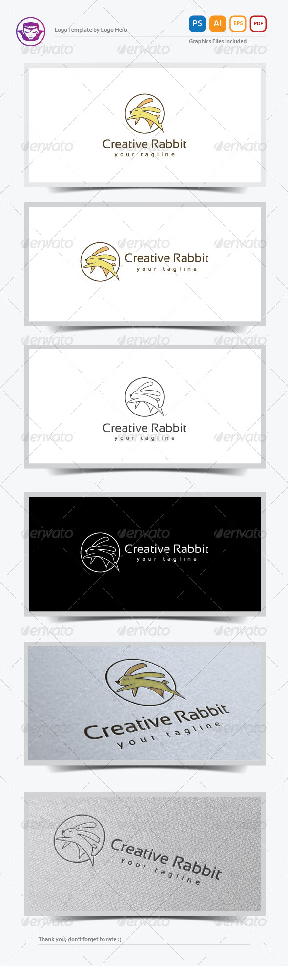 GraphicRiver Creative Rabbit Logo Template 8164219