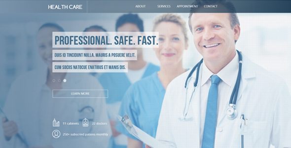 Health Care / Dental Landing Page Theme