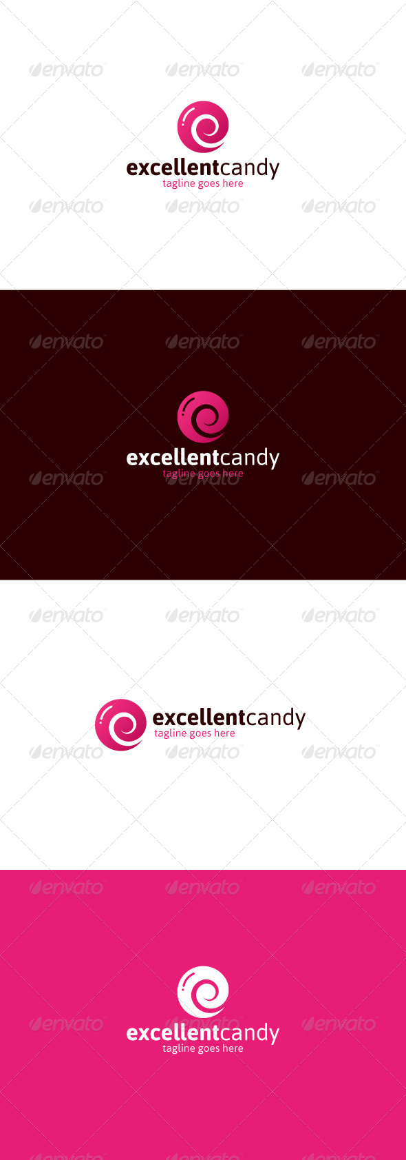 GraphicRiver Excellent Candy Logo Letter E 8164441