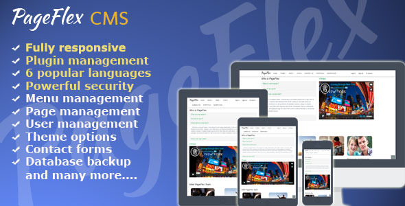 CodeCanyon PageFlex CMS Version 1.1 8164443