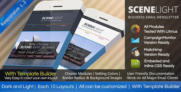 SCENLIGHT - Responsive Email Template With Builder - Email Templates Marketing