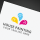 House Painting Logo - GraphicRiver Item for Sale