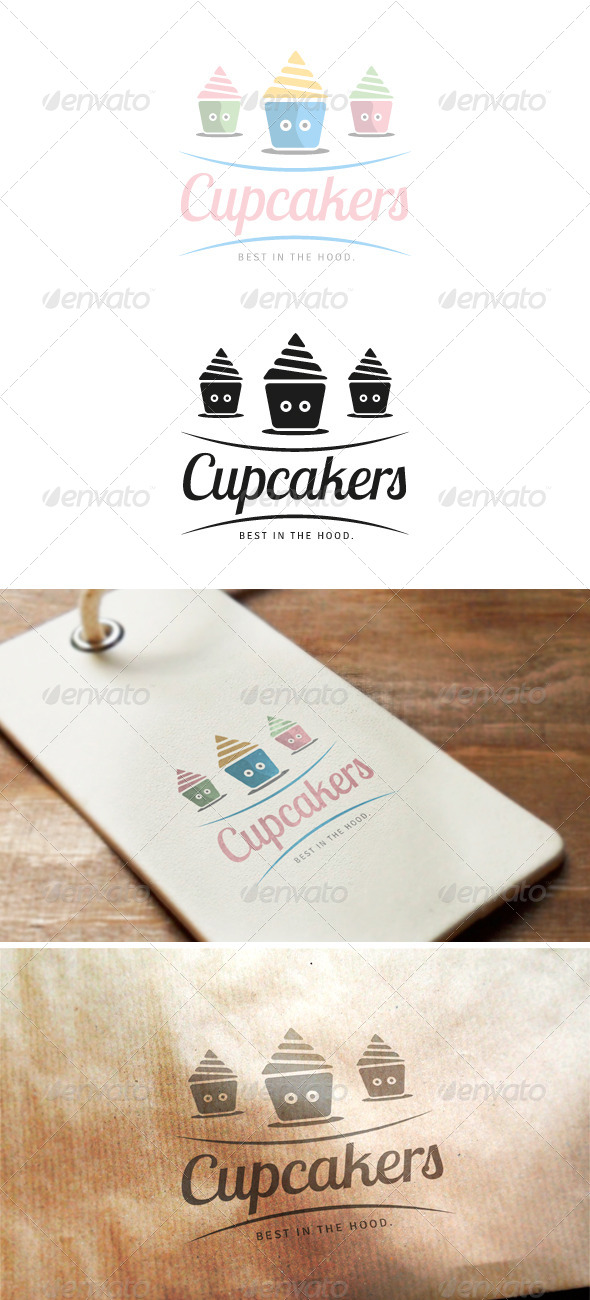 GraphicRiver Cupcakers Logo 8159113