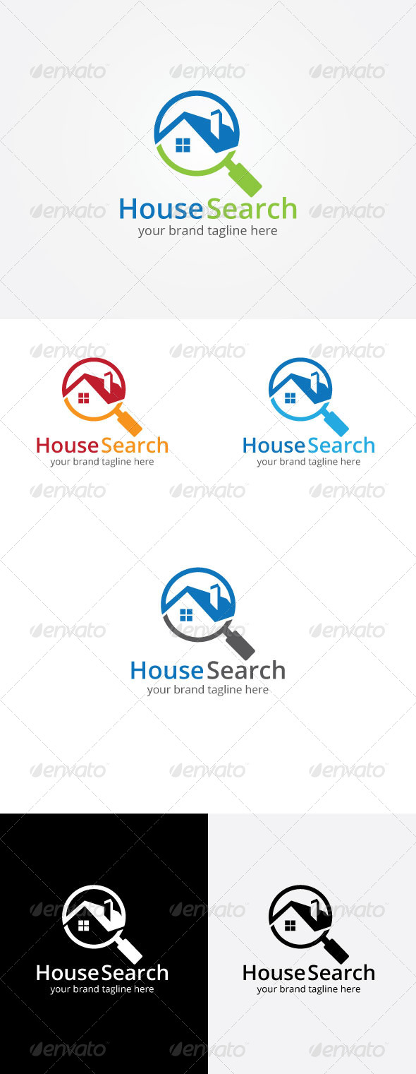 GraphicRiver House Search Logo 8164567