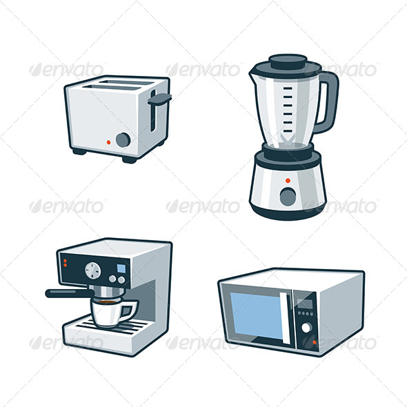 GraphicRiver Home Appliances 3 Toaster Blender Coffee maker 8164650