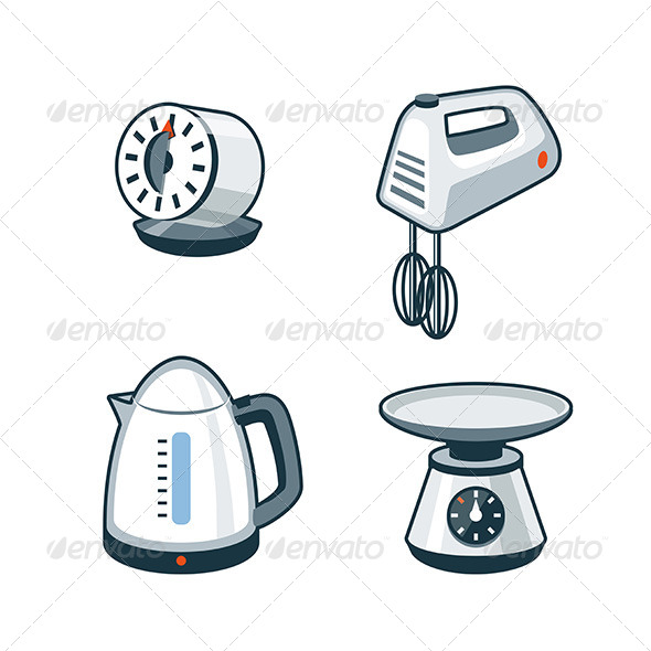 GraphicRiver Home Appliances 4 Timer Hand Mixer Electric Kettle 8164652