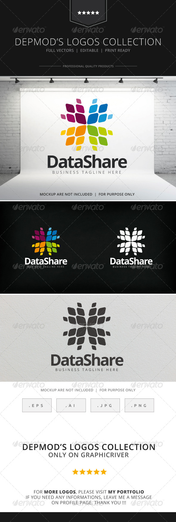 GraphicRiver Data Share Logo 8164699