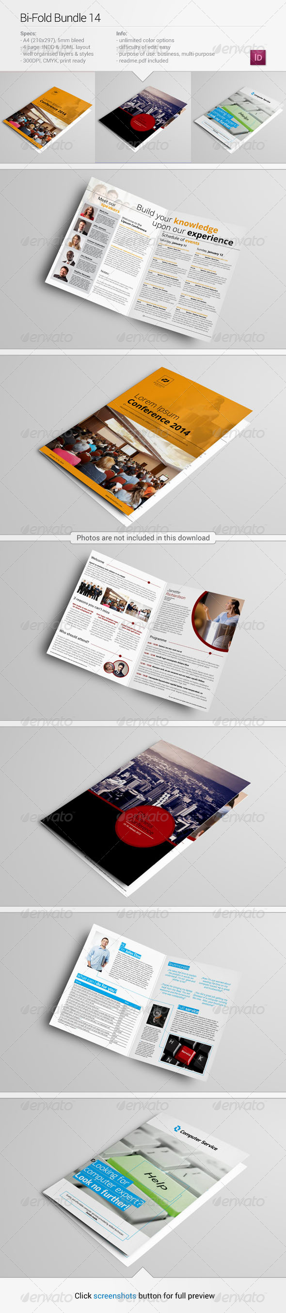 GraphicRiver Bi-fold Bundle 14 8164726