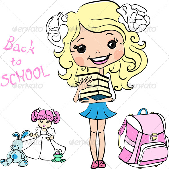 GraphicRiver School Girl 8164790