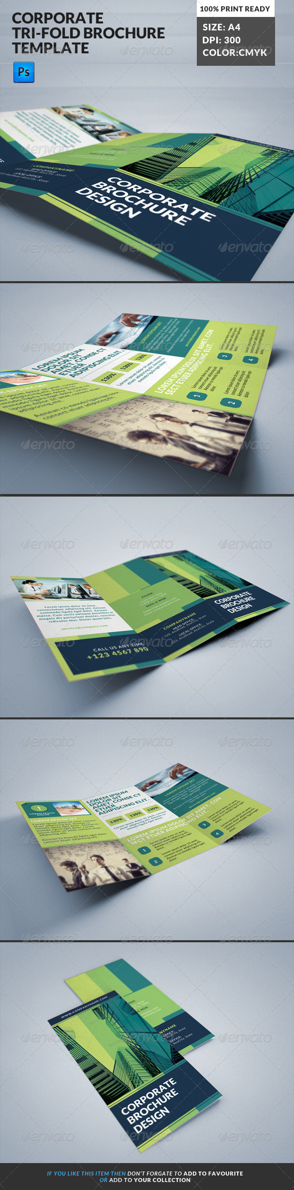 GraphicRiver Corporate Tri-Fold Brochures Template 13 8164791