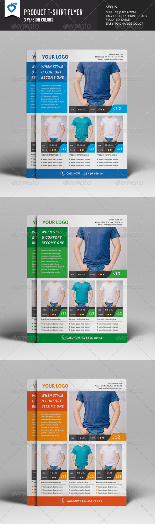 GraphicRiver Product T-shirt Flyer 8164439