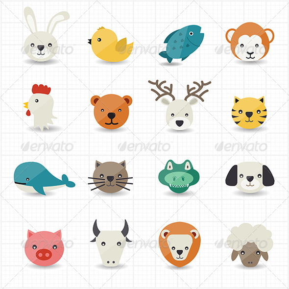 GraphicRiver Animal Icons 8165030