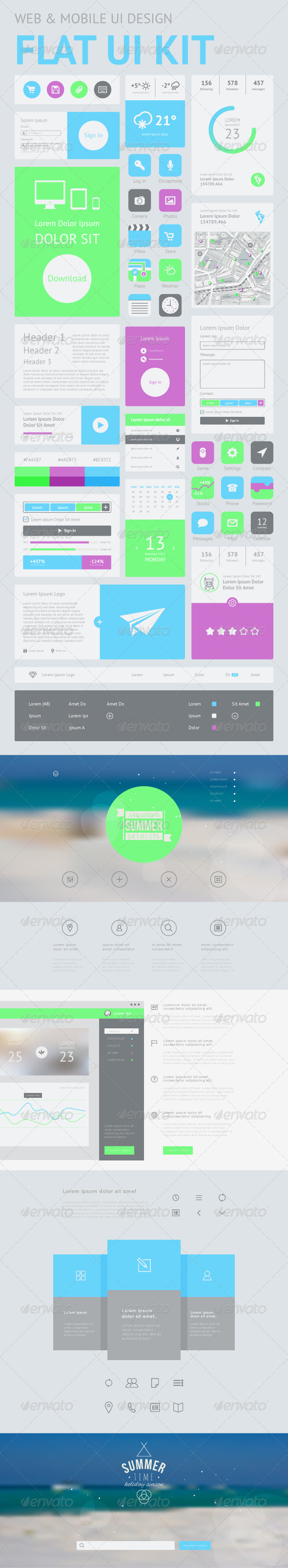 GraphicRiver One Page Website Design Template 8165066
