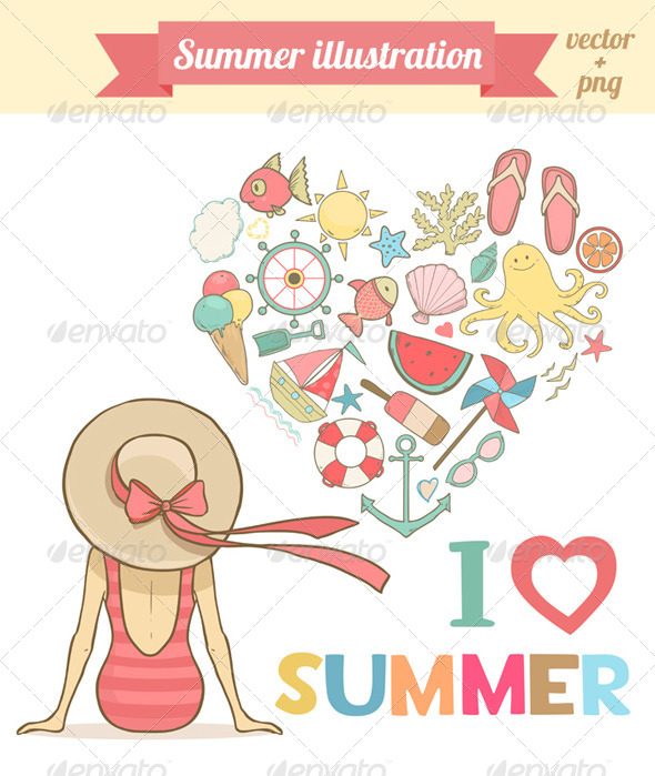 GraphicRiver Summer Illustration 8165891